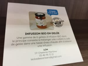 Infusion bio en gelée bio