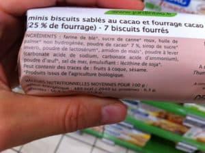 amidon maïs bio biscuits bio