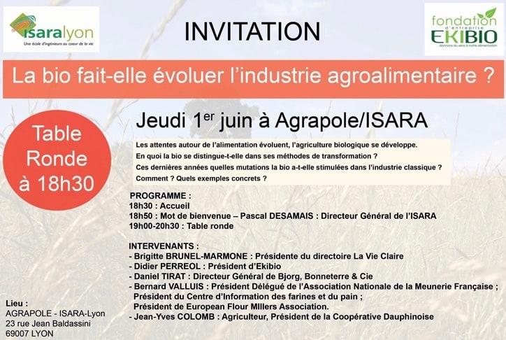 Programme Table Ronde bio ISARA Ekibio