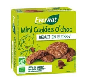 nouveaux cookies réduits en sucres