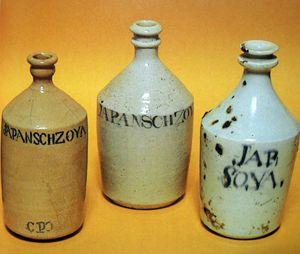 Bouteilles d'exportation du Japon contenant de la sauce de soja