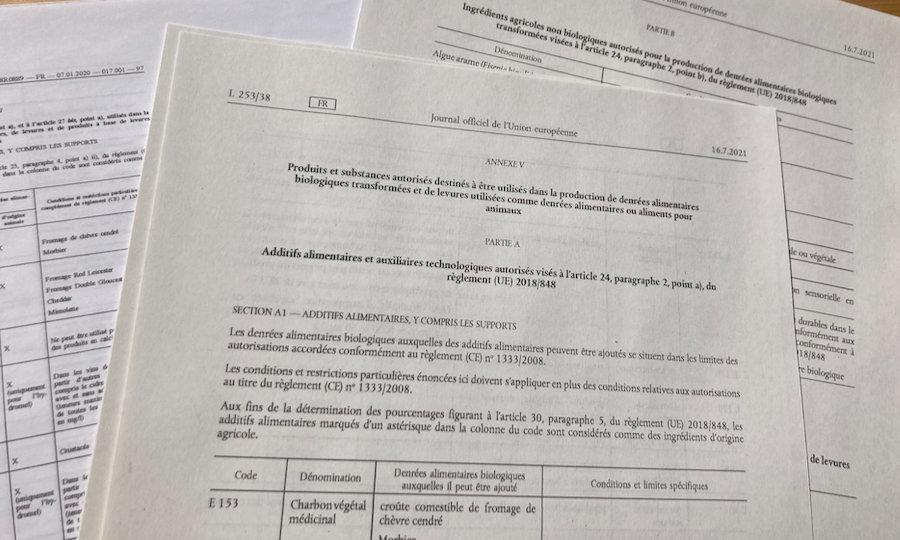 Nouveau règlement bio : publication du règlement d'exécution (UE) 2021/1165 sur les substances autorisées en bio