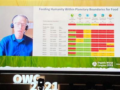 Johan Rockström lors du Congrès mondial de la bio 2021