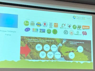 Chaînes de valeurs, présentation au COngrès mondial de la bio 2021